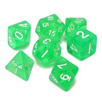 "Dados ""Neón Verde"" (set de 7 dados poliédricos)"