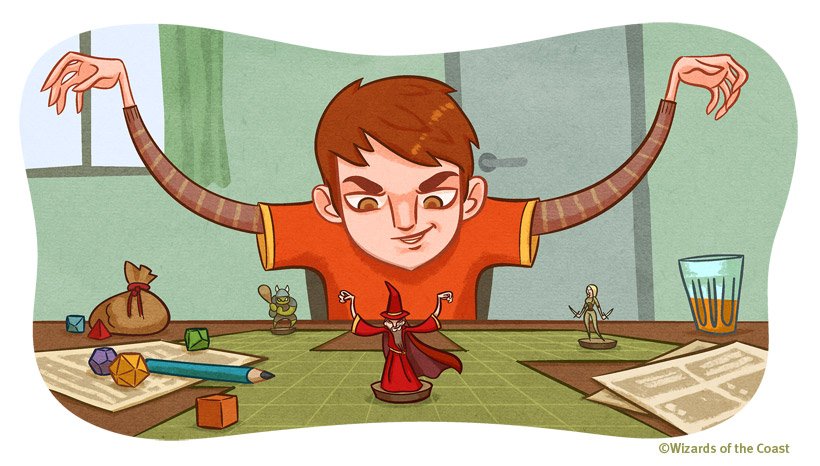 820x466 4523 D D Player s Strategy Guide Getting Into Character 2d fantasy illustration boy role playing dungeons and dragons miniature dice picture ima1