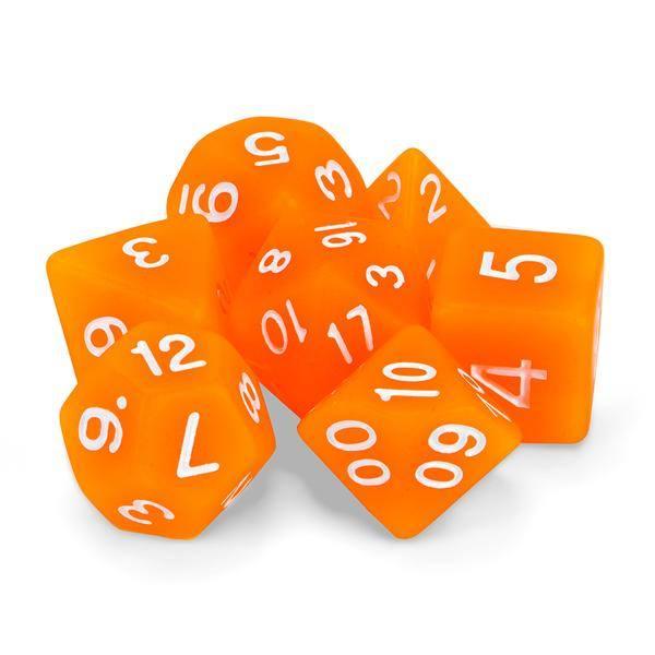 """Dados """"Brazas de la Forja"""" (set de 7 dados poliédricos)"""