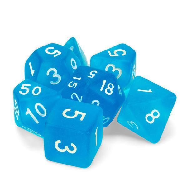 """Dados """"Cristal Marino"""" (set de 7 dados poliédricos)"""